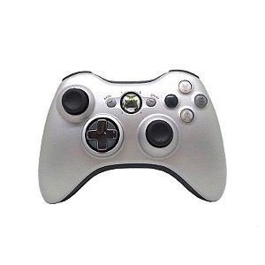 Controle Joystick Xbox 360 Wireless S/ Fio Cinza Original - Seminovo