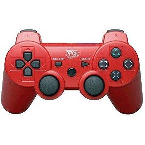 Controle Joystick Ps3 Dualshock 3 DS3 Play Game - Vermelho