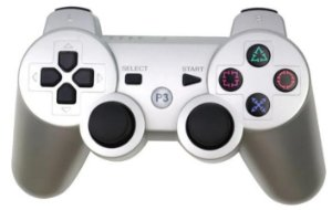 Controle Joystick Ps3 Dualshock 3 DS3 Play Game - Cinza