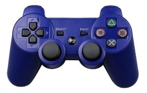 Controle Joystick Ps3 Dualshock 3 DS3 Play Game - Azul