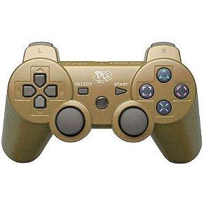 Controle Joystick Ps3 Dualshock 3 DS3 Play Game - Dourado