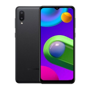"Telefone Celular Smartphone Samsung Galaxy M02 M022M LTE Dual Sim 6.5"" 3GB / 32GB - Preto"