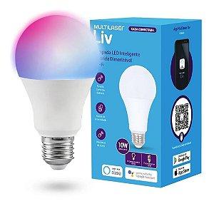Lâmpada LED Inteligente Colorida Dimerizável Wi-Fi - Multilaser