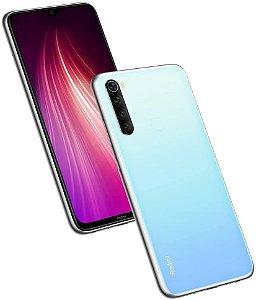 """Telefone Celular Smartphone Xiaomi Redmi Note 8 64GB / 4GB RAM / 4G / Dual Sim / Tela 6.3"""" / Câmeras 48MP + 8MP + 2MP + 2MP e 13MP - White ( BR )( 2021 )"""