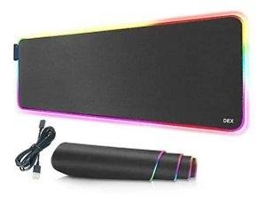 Mouse Pad Gamer Dex, Com Led RGB 40 x 90 cm 7 Cores, 14 Modos - RY-4090