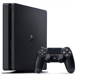 Console Playstation 4 Slim 500 GB Sony + 1 Controle Original + 1 Jogo*