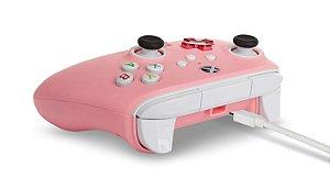 Controle Com Fio - Enhanced Wired - Xbox Series X | S Xbox One - Xbox Series X - PowerA - Pink - Rosa