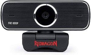 Webcam Hitman Redragon GW800-1 / 1080P - Preto