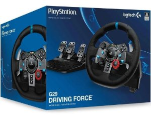 Volante e Pedais Logitech G29 Driving Force USB P/ PS3/PS4/PC