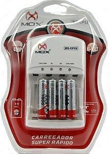 Carregador de Pilha p/04 com 4 Pilhas AAA MO-CP52