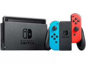 Console Nintendo Switch 32Gb Neon - Azul Neon e Vermelho Neon - Bateria Extendida