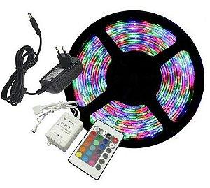 Fita de Led 3528 RGB c/ Revestimento de Silicone e Fonte (KAP-3528RGB) - 5m