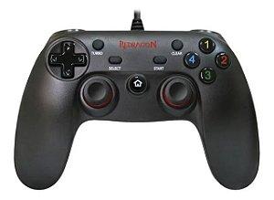 Controle Joystick Redragon Saturn G807 Preto p/ PC e PS3