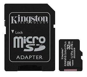 Cartão Micro SD Canvas Select Plus Kingston 32gb 100mb/s
