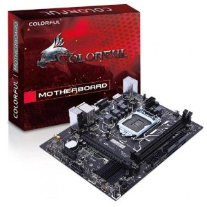 Placa Mãe Colorful·Micro ATX·Soquete LGA1151·Gamer·Chipset Intel·HDMI·VGA·Ethernet·PCI·PCI Express