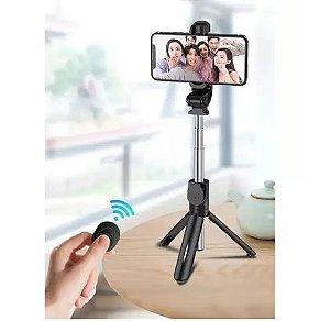 Bastao de Selfie Bluetooth c/ Controle p/ Celular Smartphone (ZB-007)
