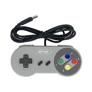 Controle Joystick Usb Pc Super Nintendo Snes Knup Kp-3124 Ce-009