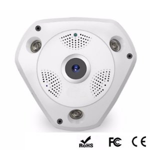Camera Ip Hd Panorâmica 360 Wifi 1.3Mp Verde Vr-360 Yy-360