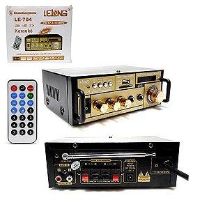 Mini amplificador Mp3 Fm Bluetooth Karaoke LeLong Le-704