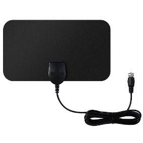 Antena Amplificada Interna Hdtv Digital 3.5 dbi c/ Cabo 3m