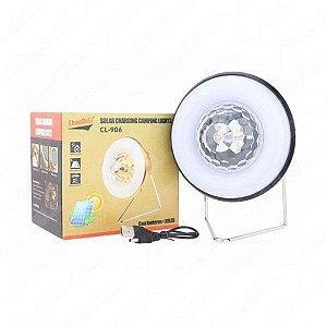 Luminária Solar Globo Giratoria Lanterna Recarregavel (Cl-906)