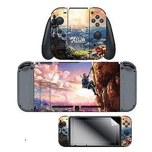 Kit Skin Adesivo Nintendo Switch Zelda C/ Pelicula Tela