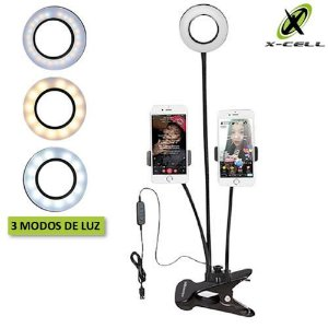 Luz Led Ring Light c/ Pedestal p/ Celular X-Cell Xc-Rl-02