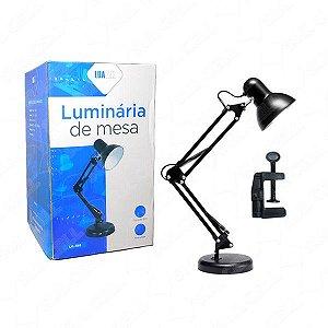 Luminaria Abajur 2x1 Mesa/Garra Bivolt LuaTek Lk-780
