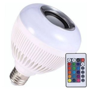 Lâmpada Music Bulb Party Ball Led c/ Controle Remoto Rgb 12W Wj-L2