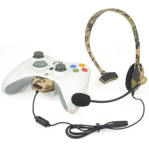 Headset Fone Arco C/Fio Camuflado Para Xbox 360