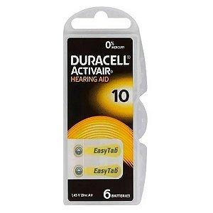 Pilha 1.45V Duracell Activair 10 (Unidade)