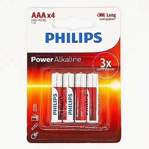 Pilha Alcalina Phillips Aaa Pacote C/4