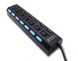 Adaptador Extensor Hub Usb 2.0 7 Portas Xtrad Xt-2067