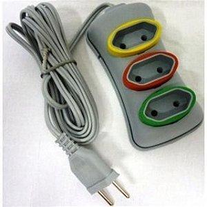 Extensao Eletrica 3 Tomadas 10A (2P x 0.75mm) 5m Celuz