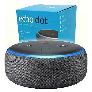 Smart Speaker Amazon Alexa Echo dot 3ª Geração - Preto Charcoal