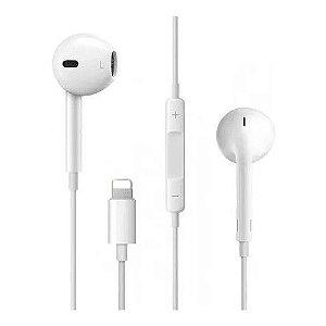 Fone de Ouvido C/ Fio C/ Conector Iphone 6 7 8 X XR XS - Renux RE-FON-3105