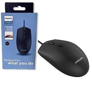Mouse Optico Com Fio USB Philips (M204)