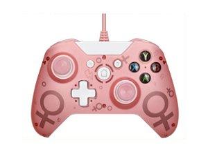 Controle Joystick Xbox One / PC  Paralelo c/ Fio de 2m - Cor De Rosa (N-1)