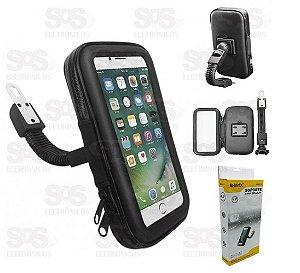 Bolsa Capa para Celular Prova D'agua c/ Suporte GPS Moto & Bike (BMG-18)