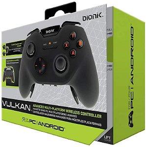 Controle Joystick Wireless s/ Fio Bionik Vulkan para Xbox One &  PC & Smartphone - Preto (BNK-9046)