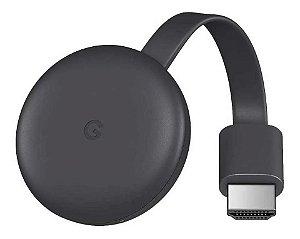 Google Chromecast 3ª Ger. Original HDMI Full HD 1080p