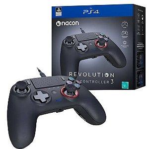 PS4 - Controle Revolution Pro Controller 3 Preto PS4 / PC - Nacon