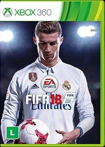 XBOX 360 - FIFA 18 - Seminovo