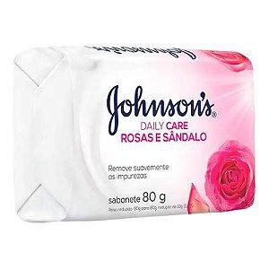 Sabonete Johnson's Rosas e Sândalo 80g