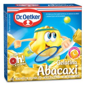 Gelatina Abacaxi Dr. Oetker