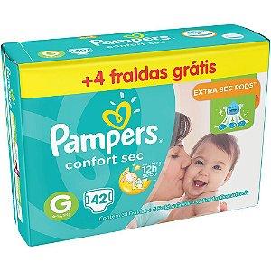 Fraldas Pampers Confort Sec Tamanho G - 42und