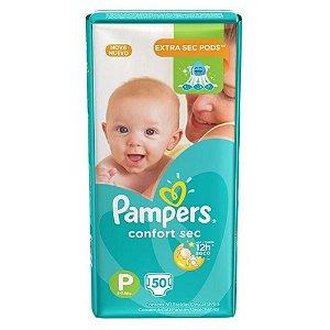 Fraldas Pampeers Confort Sec Tamanho P - 50 und