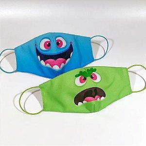 Máscara Infantil MONSTERS - Pack 02 unidades
