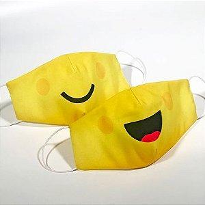 Máscara Infantil EMOJI - Pack 02 unidades