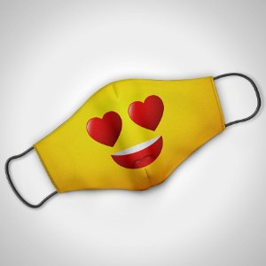 Máscara Adulto Fem Emoji  - Pack 02 unidades